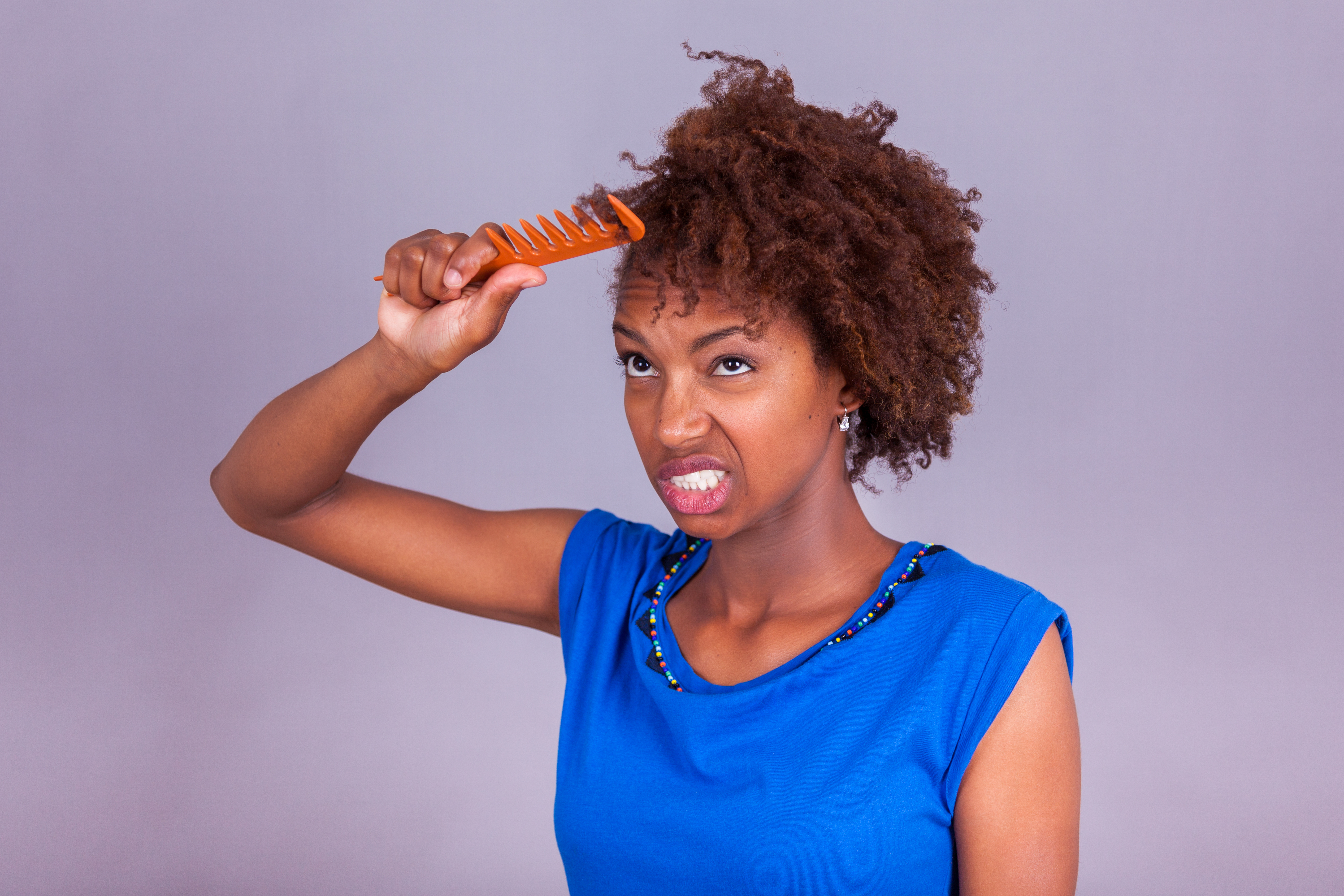 How to Comb Kinky 4c Natural Hair Without Pain