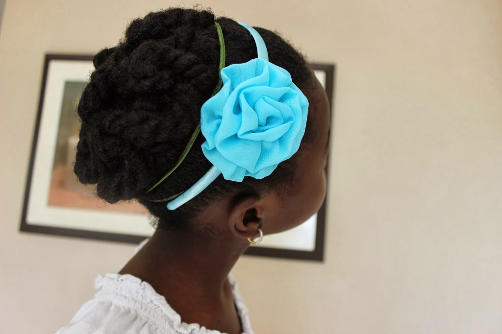 Simple Holiday Hairstyle for your #NaturalKids : Twisted Puff