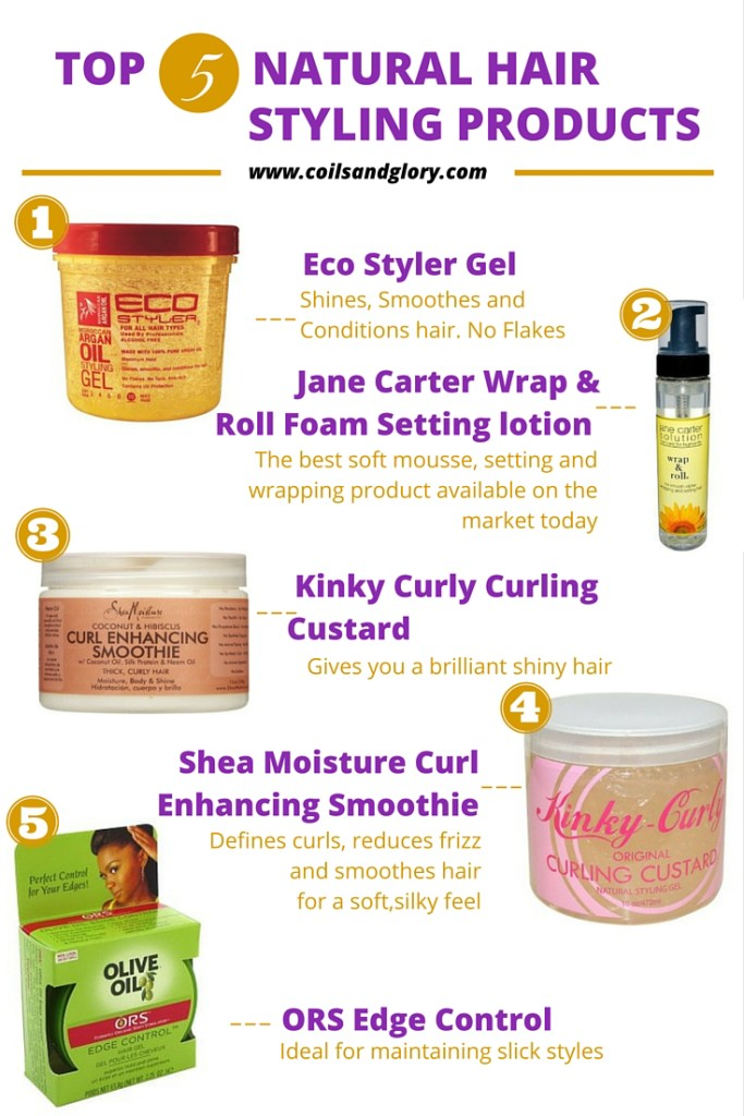 Natural hair styling products for 4c hair