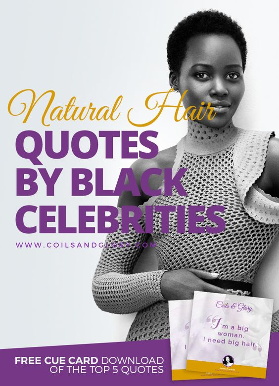 black women's natural hair quote
