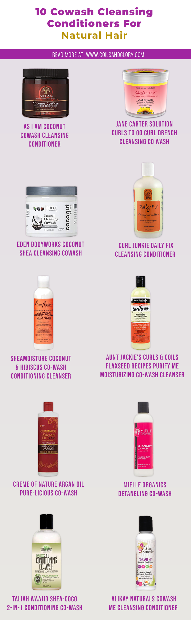 co-wash cleansing conditioners for natural hair