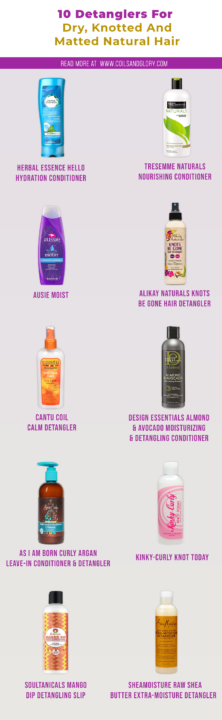 Detangling conditioners for Natural Hair