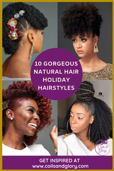 holiday natural hairstyle