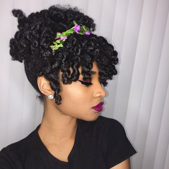natural hair holiday hairstyle