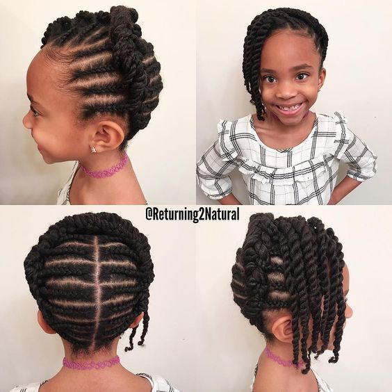 Swell 12 Easy Winter Protective Natural Hairstyles For Kids Coils Glory Schematic Wiring Diagrams Amerangerunnerswayorg