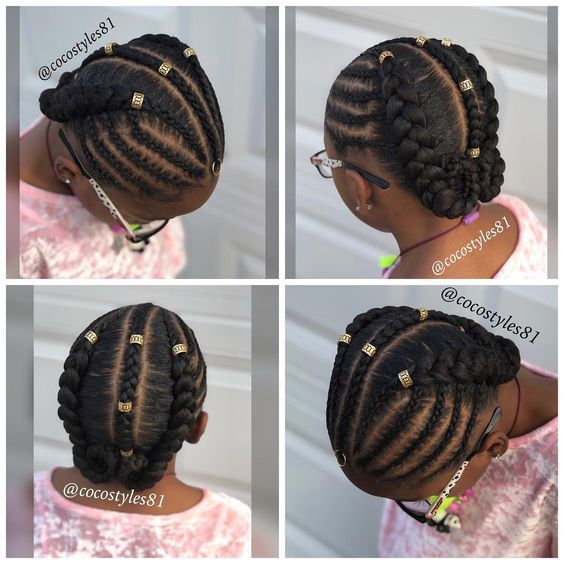 Tremendous 12 Easy Winter Protective Natural Hairstyles For Kids Coils Glory Schematic Wiring Diagrams Phreekkolirunnerswayorg