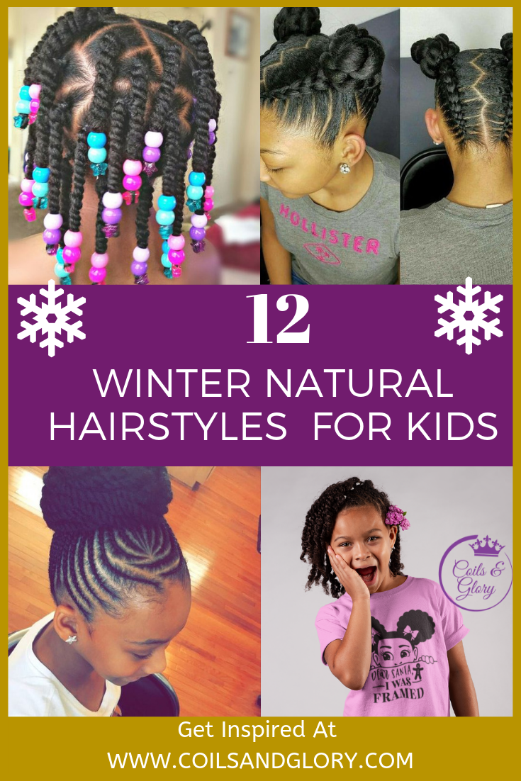 Excellent 12 Easy Winter Protective Natural Hairstyles For Kids Coils Glory Natural Hairstyles Runnerswayorg