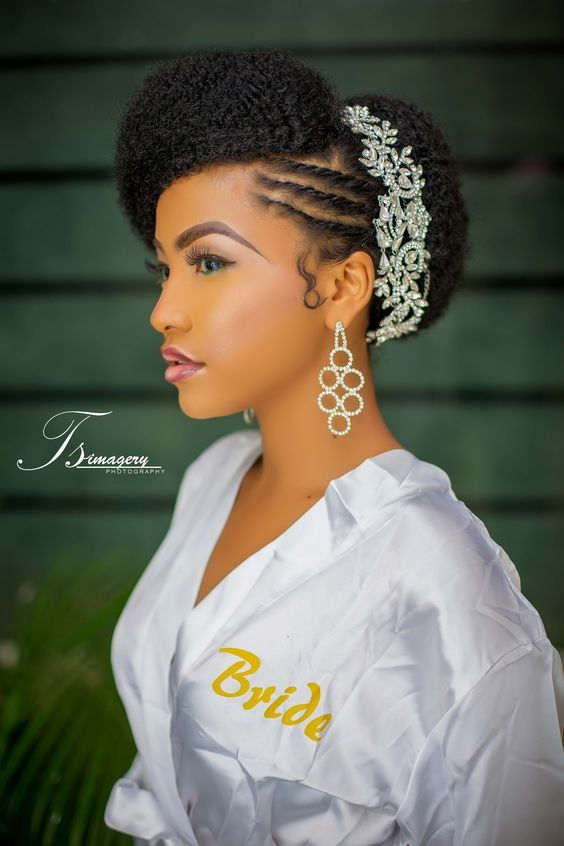 natural hairstyles for brides