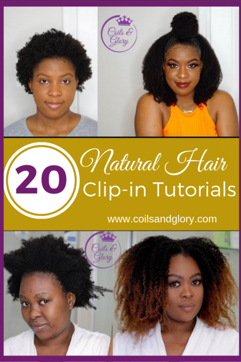 natural hair clip-in extensions tutorial