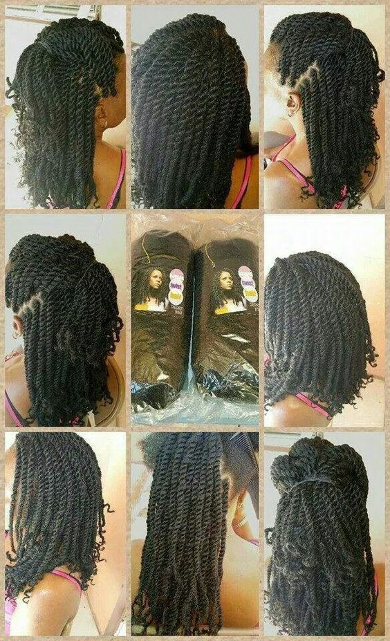short marley twist styles