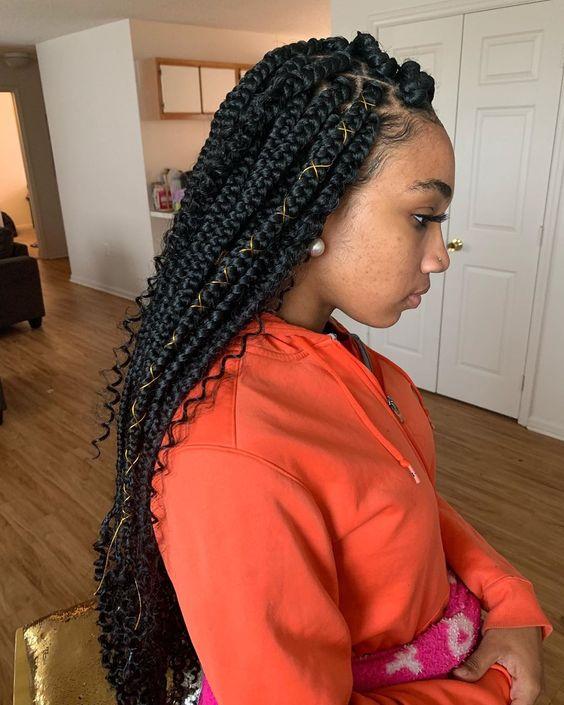 40 Bohemian Box Braids Protective Hairstyles Ideas Coils