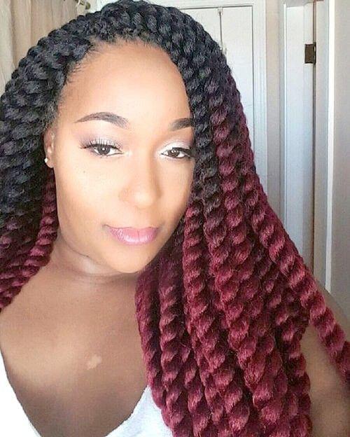 havana twist hairstyles ombre