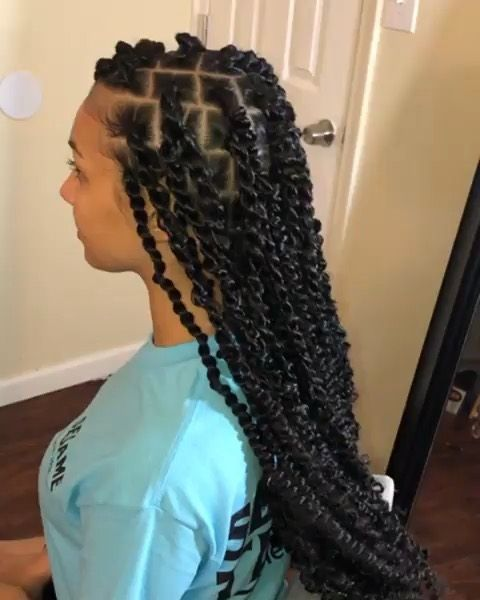 passion twist hairstyle ideas on black hair