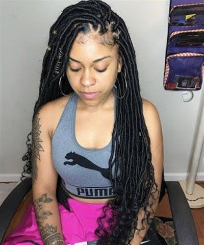 faux locs hairstyle