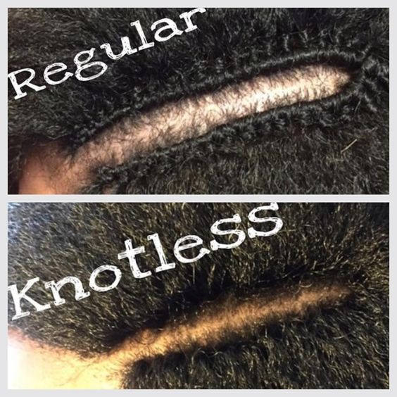 knotless crochet braids