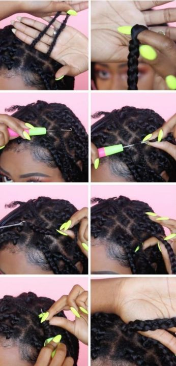 no cornrow crochet braid