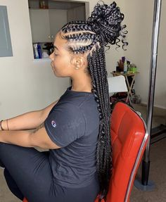 cornrows bohemian box braids