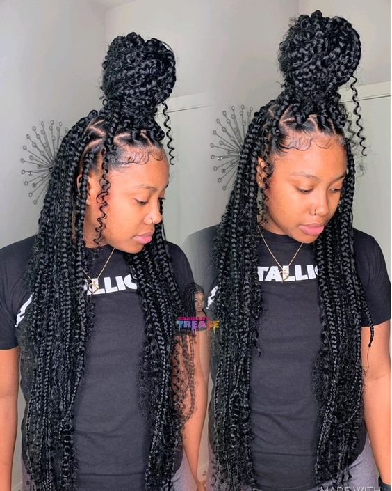 goddess bohemian box braids