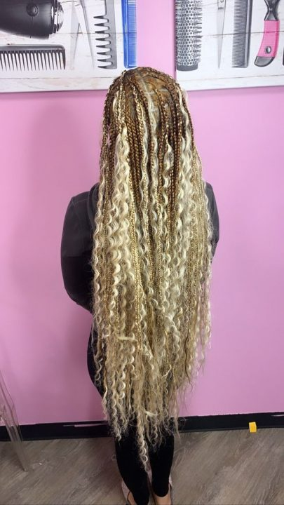 ombre bohemian box braids