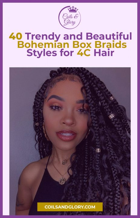 bohemian box braids hairstyles on 4c hair