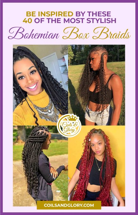 bohemian box braids crochet hairstyles