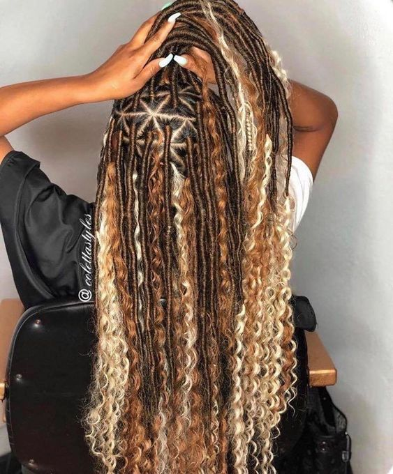 curly goddess faux locs hairstyles
