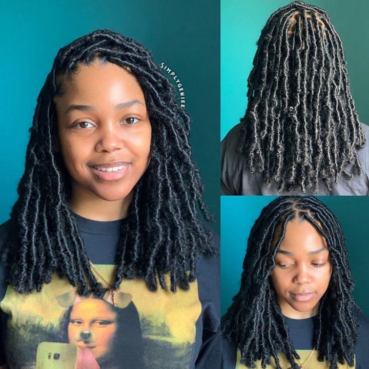 faux locs on natural hair