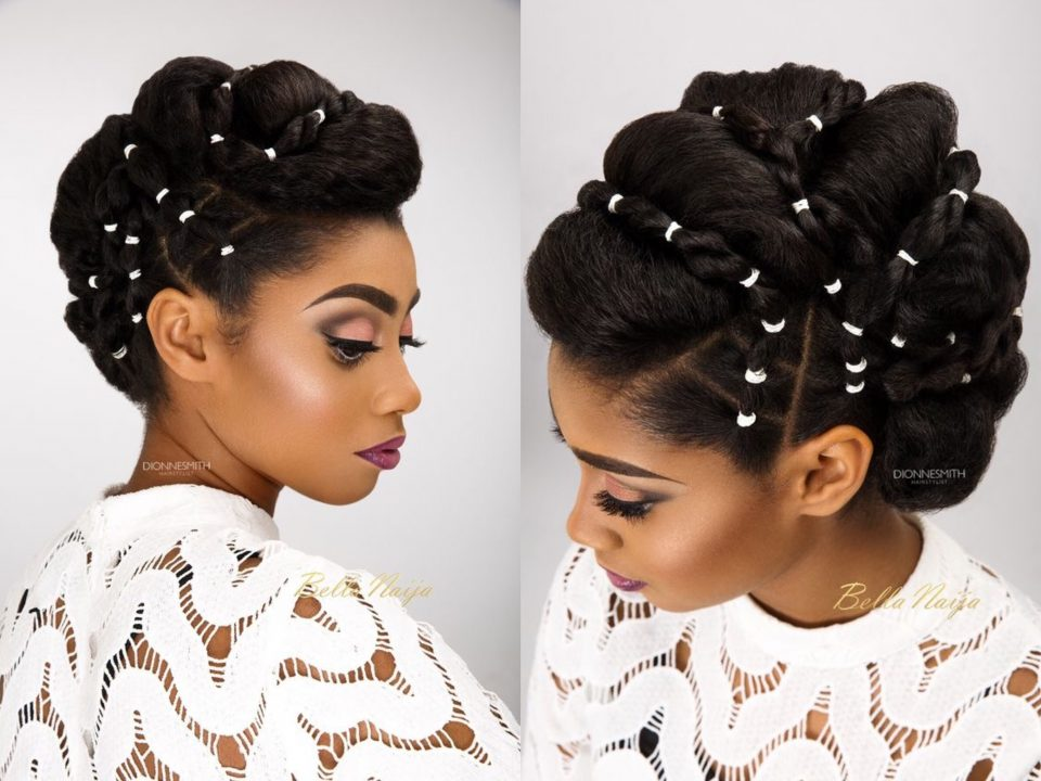 rubber band hairstyle for Weddings