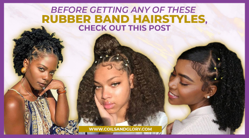 rubber band hairstyles on 4c hair