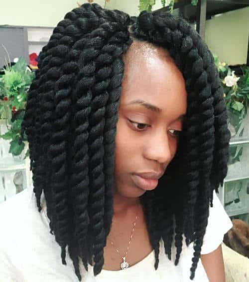 short havana twist hairstyle idea on 4c hair