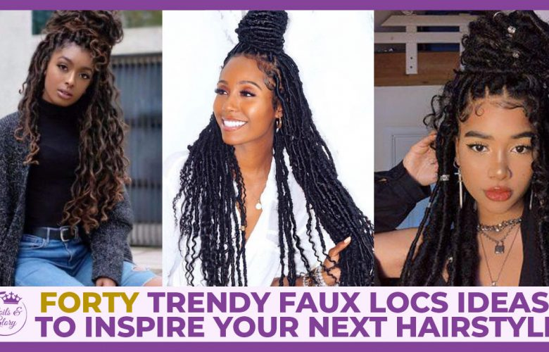 faux locs hairstyle for black women