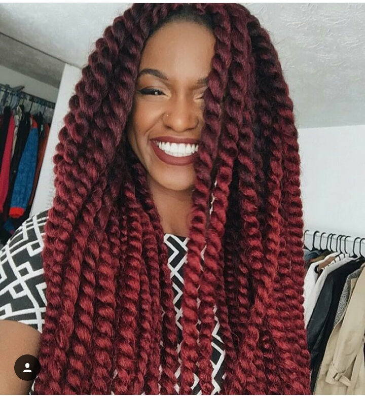 Individual Crochet Havana Twist on natural hair