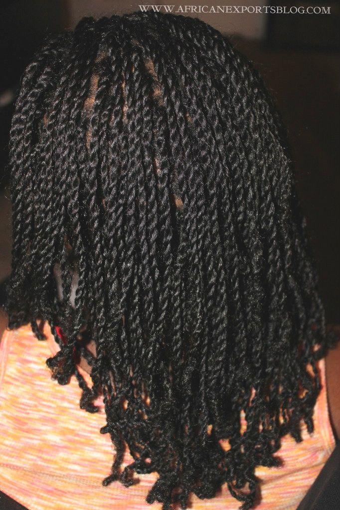 two strand twist on 4c hair