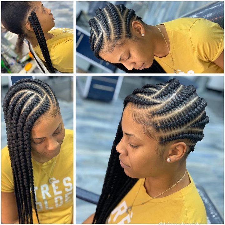 side lemonade braids jumbo