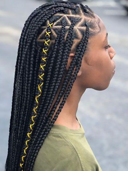 box braid accessories string