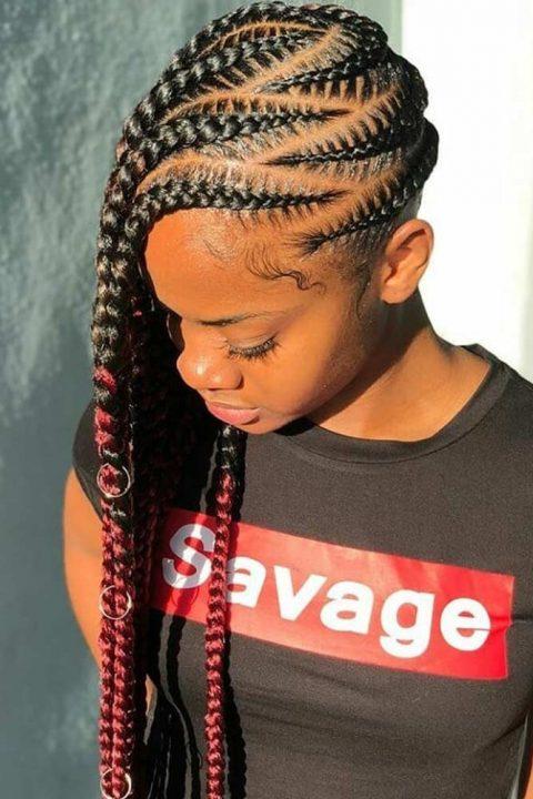 lemonade braids cornrows