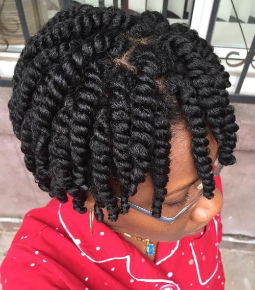 two strand twist on short 4c hair