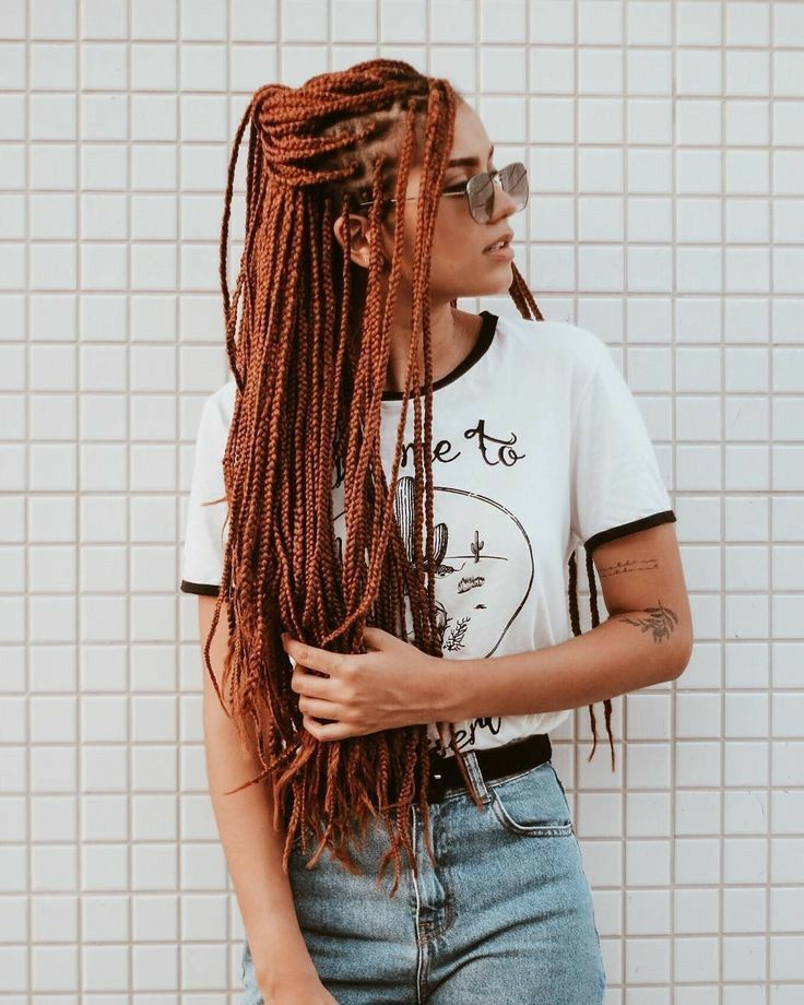long box braid with color