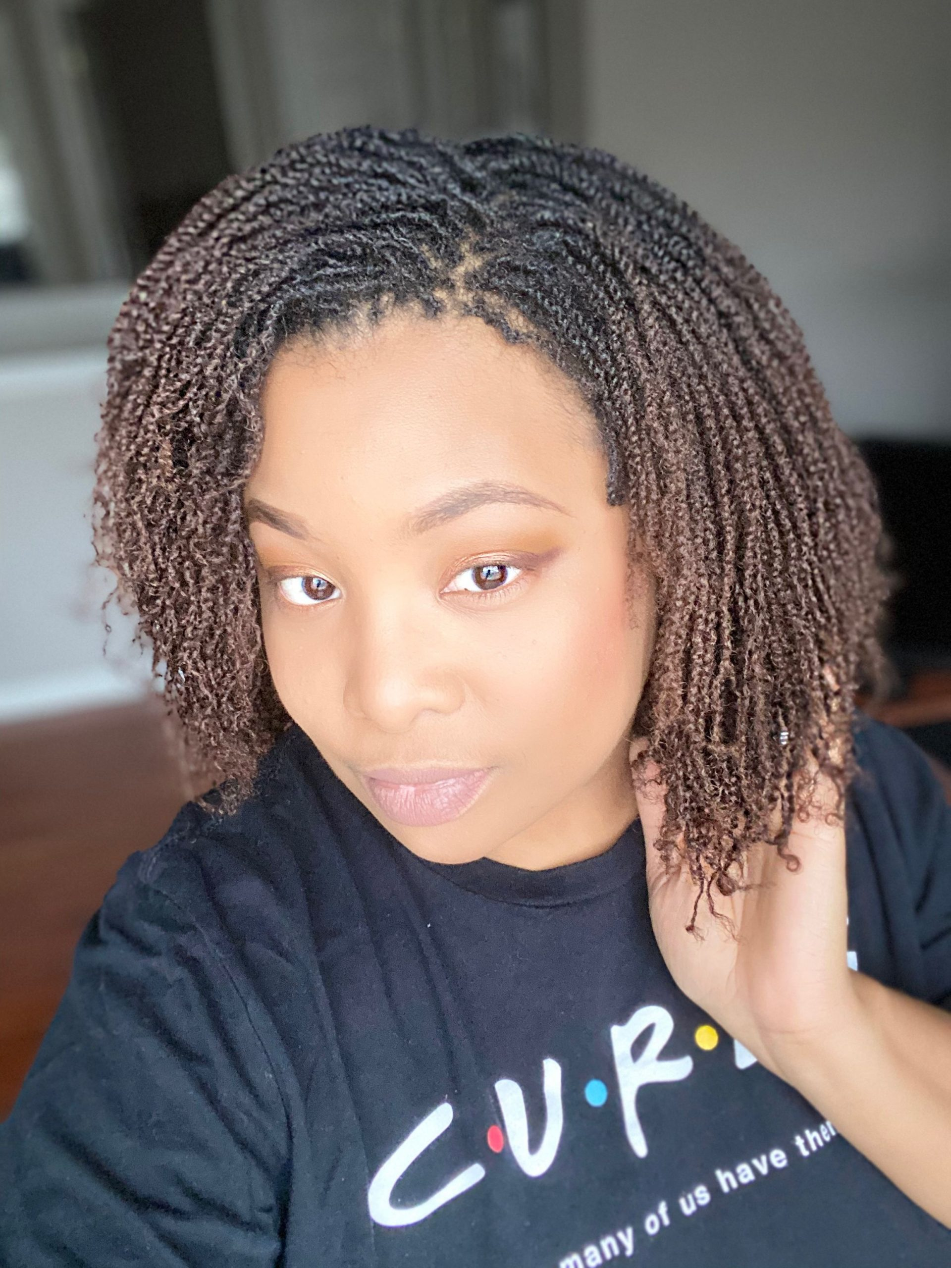 twist out on short natural hair 4c